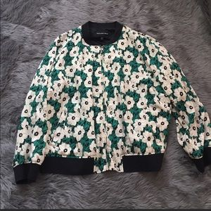 Who What Wear Floral Bomber Jacket size L preowned